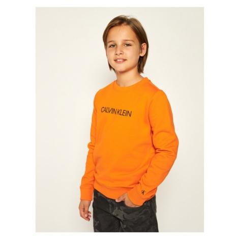Calvin Klein Jeans Bluza Logo IU0IU00091 Pomarańczowy Regular Fit