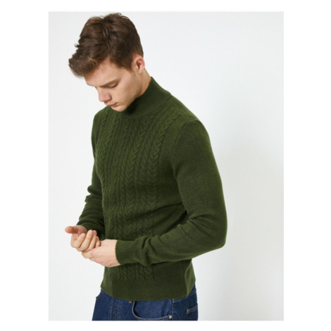 Koton Bogazli Sweter wzorzysty z długim rękawem