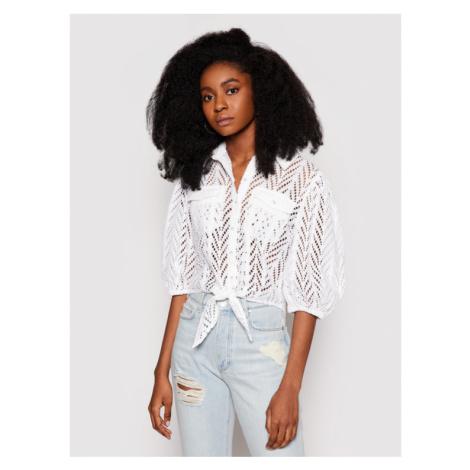Guess Koszula W1GH0A WDVA1 Biały Regular Fit