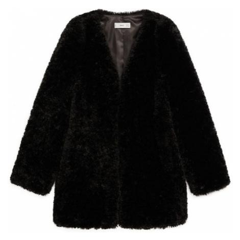 MANGO Płaszcz zimowy 'Rihanna' czarny