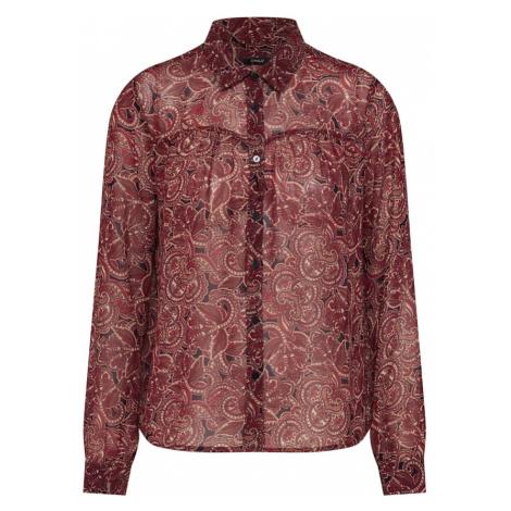 ONLY Bluzka rubinowo-czerwony / czarny