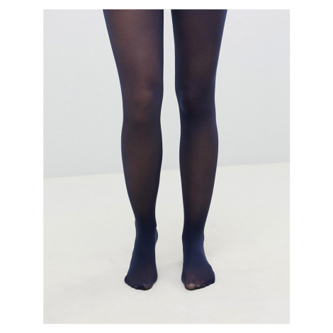 ASOS DESIGN recycled 40 denier tights in navy
