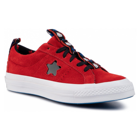 Tenisówki CONVERSE - One Star Ox 163905C Fiery Red/Black/White