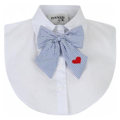 Pinned By K Kołnierz 'Collar white with bowtie' niebieski / biały