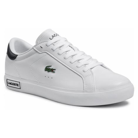 Sneakersy LACOSTE - Powercourt 0520 1 SMA 7-40SMA00601R5 Wht/Dk Grn