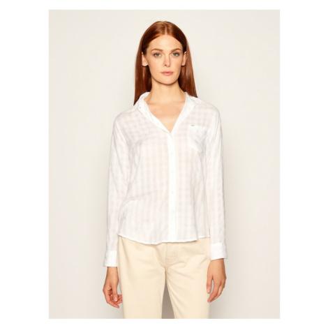 Lee Koszula One Pocket L45THTLJ Biały Relaxed Fit