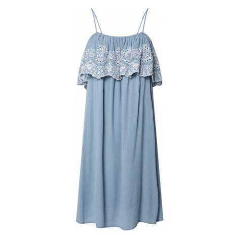 VILA Letnia sukienka niebieski / biały