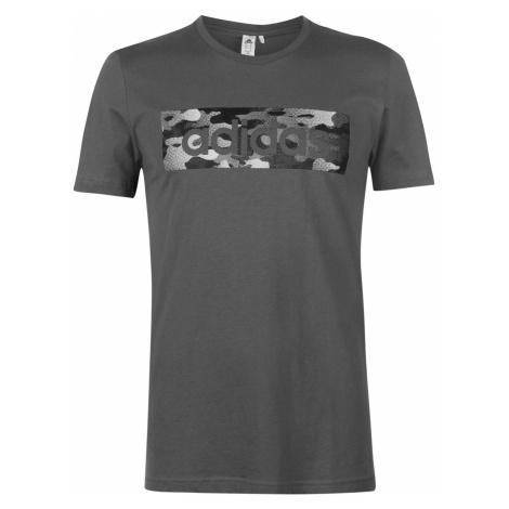 Adidas Camo Linear T Shirt Mens