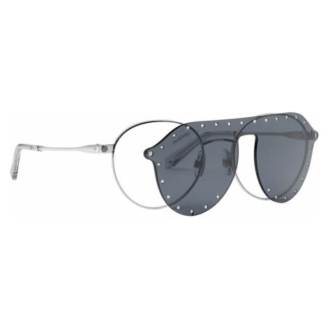 Okulary przeciwsłoneczne Swarovski z nakładką SK0275-H 52016, szare