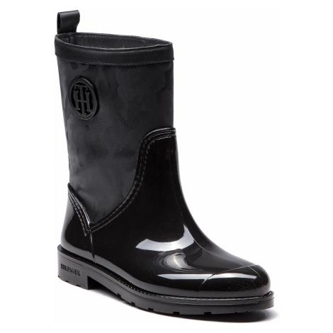 Kalosze TOMMY HILFIGER - Shiny Camo Rain Boot FW0FW03318 Black 990