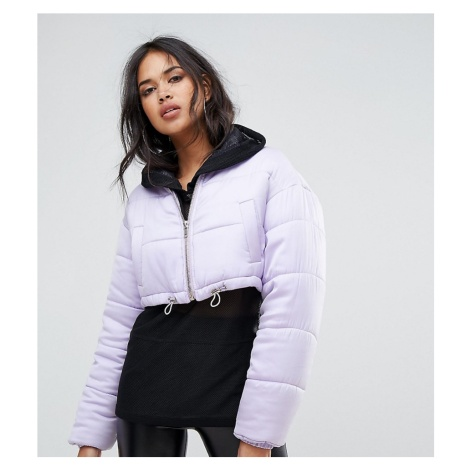 Missguided exclusive padded cropped jacket
