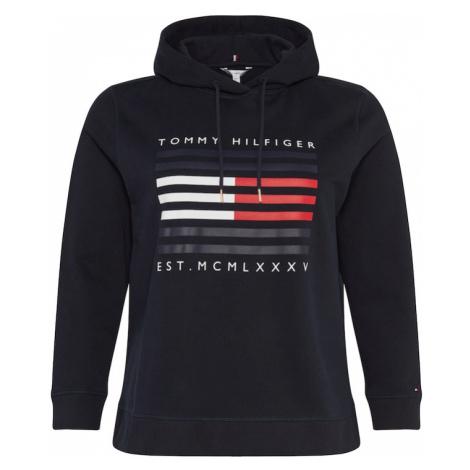 Tommy Hilfiger Curve Bluzka sportowa ciemny niebieski / biały / czerwony