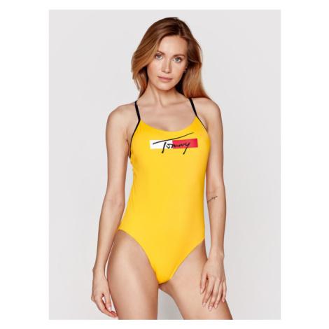 Tommy Hilfiger Strój kąpielowy Cheeky One-Piece UW0UW02945 Żółty