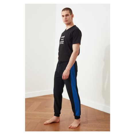 Trendyol Czarna piżama z tkaniny osmańskiej