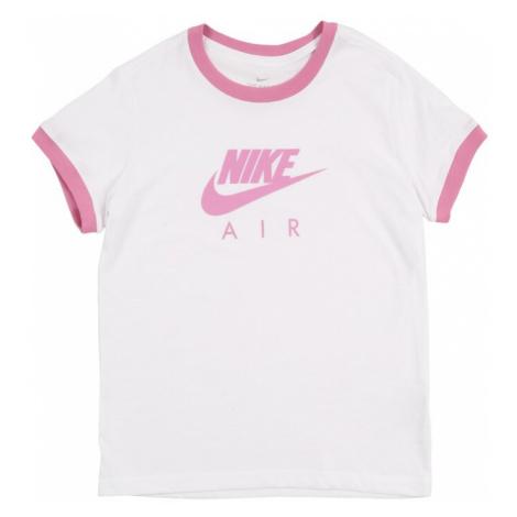 Nike Sportswear Koszulka 'AIR LOGO RINGER' różowy / biały