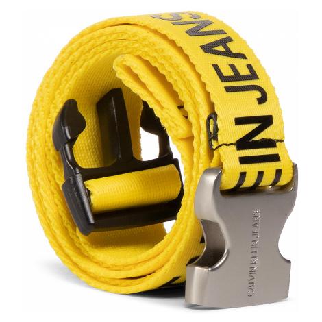 Pasek Damski CALVIN KLEIN JEANS - Ckj Logo Tape Clip Belt 30Mm K60K606810 YEL