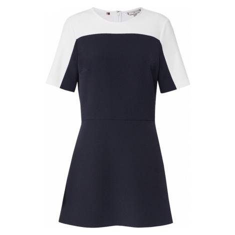 TOMMY HILFIGER Sukienka 'ANGELA PANEL DRESS SS' ciemny niebieski