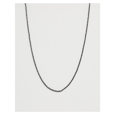 WFTW twisted rope chain neck chain in gunmetal grey
