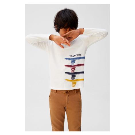 Mango Kids - Longsleeve dziecięcy Rules 110-164 cm