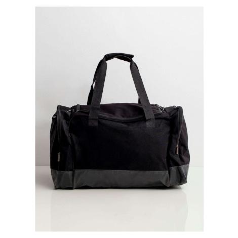 Męska czarna torba podróżna