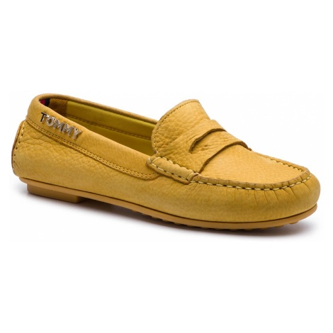 Mokasyny TOMMY HILFIGER - Colorful Tommy Moccasin FW0FW04398 Spectra Yellow 730