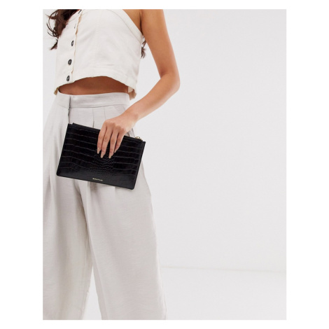 Whistles shiny croc leather small clutch