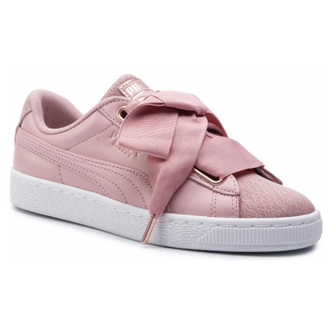 Sneakersy PUMA - Basket Heart Woven Rose Wns 369649 01 Bridal Rose/Puma White