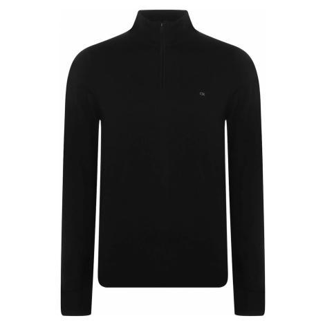 Calvin Klein Wool Zip Mock Jumper