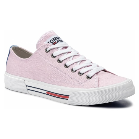 Tenisówki TOMMY JEANS - Classic Tommy Jeans Sneaker EN0EN00590 Pink Mist 677 Tommy Hilfiger