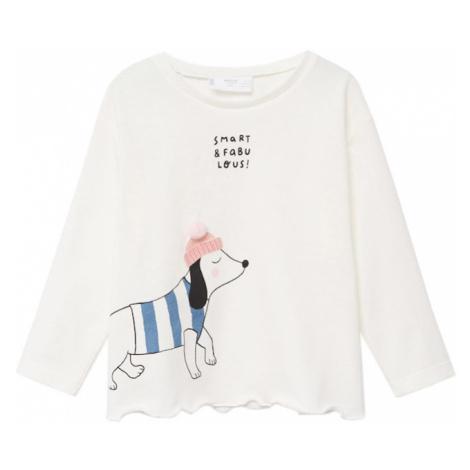 MANGO KIDS Koszulka kremowy / różowy pudrowy / jasnoniebieski