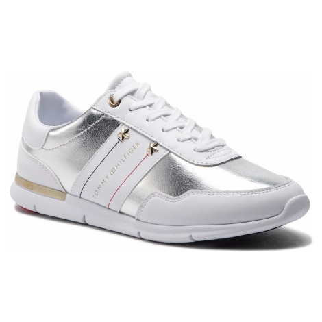Sneakersy TOMMY HILFIGER - Tommy Essential Leather Sneaker FW0FW03688 White 100