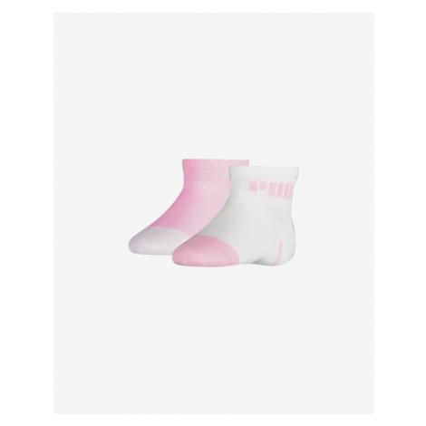 Puma Skarpetki dla dzieci 2 pary Różowy Biały