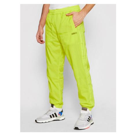 Adidas Spodnie dresowe Reverse Track GN3821 Żółty Regular Fit