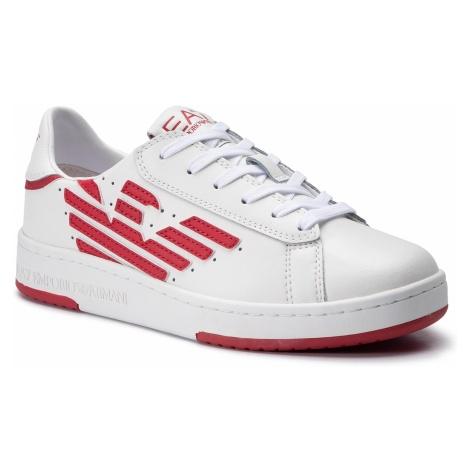 Sneakersy EA7 EMPORIO ARMANI - X8X043 XK075 A041 White/Tango Red