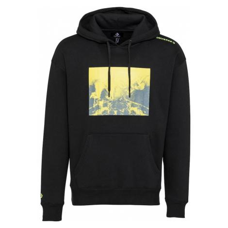 CONVERSE Bluzka sportowa czarny / żółty