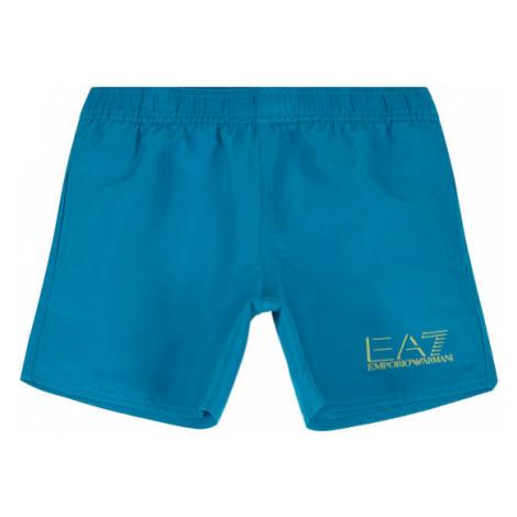 EA7 Emporio Armani Szorty kąpielowe 906005 0P772 10533 Niebieski Regular Fit