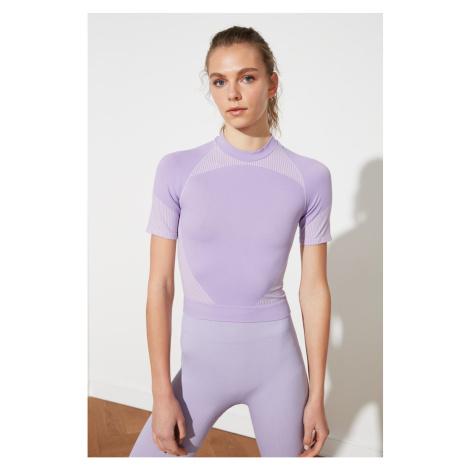 Bluzka sportowa Trendyol Lilac Bez szwu
