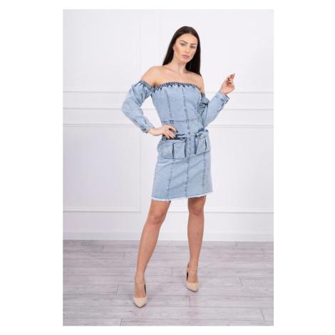 Sukienka jeansowa z rozciągliwą na ramieniu S/M-L/XL