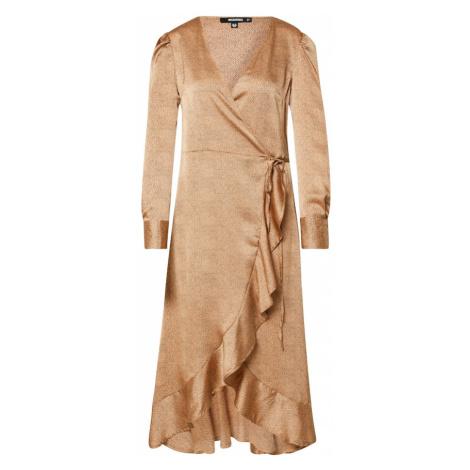 Missguided Sukienka 'DALMATIAN' beżowy / szary