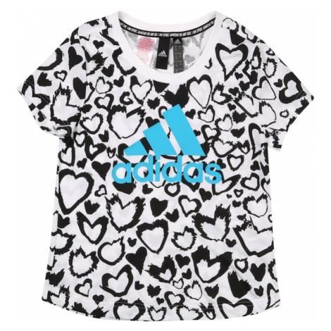 ADIDAS PERFORMANCE Koszulka funkcyjna biały / czarny / niebieski