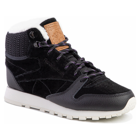 Buty Reebok - Cl Lthr Arctic Boot DV7233 Black/Purple/Chalk/B