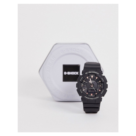 G-Shock digital S-SERIES black and rose gold accent watch Casio