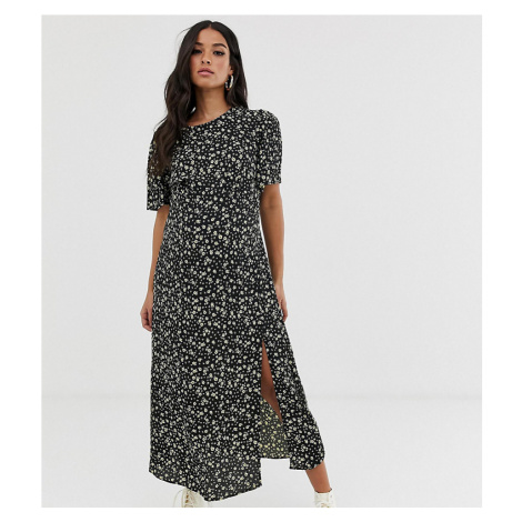 New Look Maternity dress with split in ditsy floral pattern