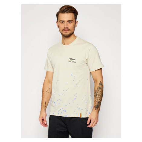 Local Heroes T-Shirt Spray Polaroid LHPLT0008 Beżowy Regular Fit