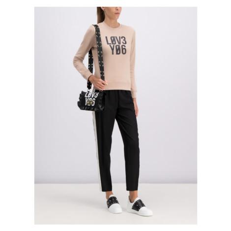 Red Valentino Spodnie materiałowe RR0RBA85 Czarny Regular Fit