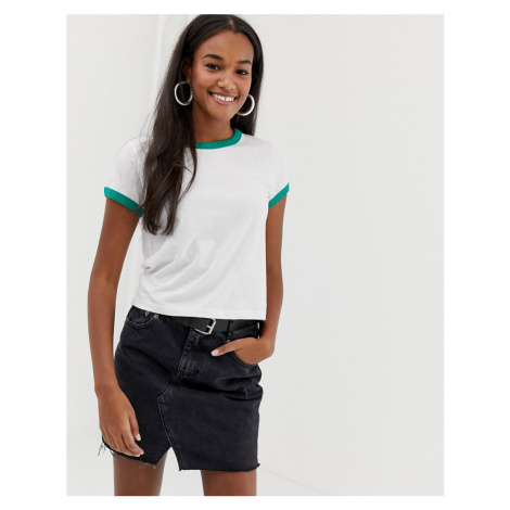 Brave Soul claudia t shirt with contrast rib