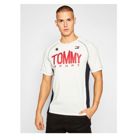 Tommy Sport T-Shirt Iconic Tee S20S200502 Beżowy Regular Fit
