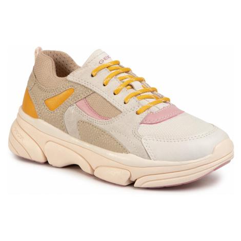 Sneakersy GEOX - J Lunare G. D J02BGD 0BC14 C0439 M Beige/White