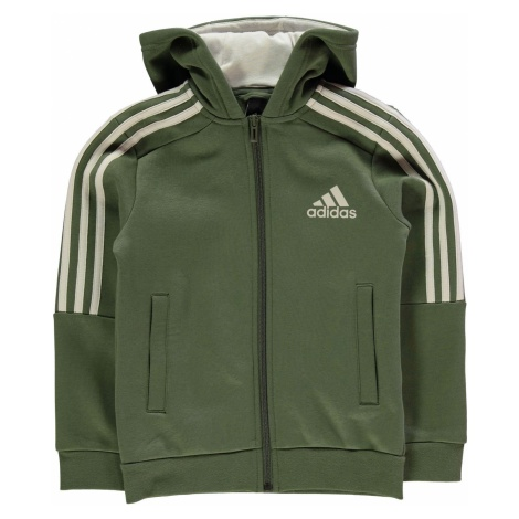 Adidas 3S Logo Full Zip Hoody Junior Boys