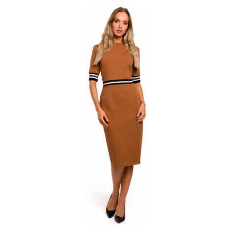 Made Of Emotion Woman's Dress M461 Caramel